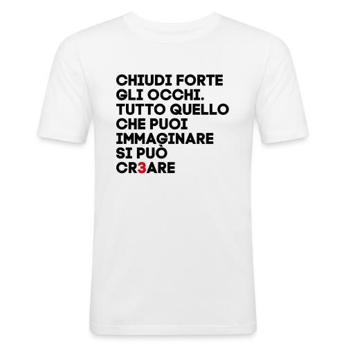 CR3ARE CLAIM 01 - Maglietta aderente da uomo