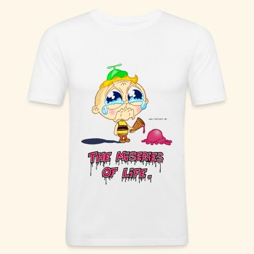 The Miseries of Life Eiscreme Eis Kind - Männer Slim Fit T-Shirt