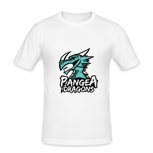 PanGea Dragons - Aqua - Männer Slim Fit T-Shirt