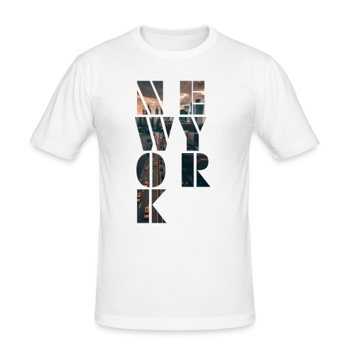 New York Cutout - Men's Slim Fit T-Shirt