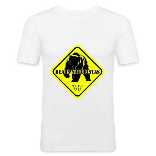 bears naturistas - Camiseta ajustada hombre
