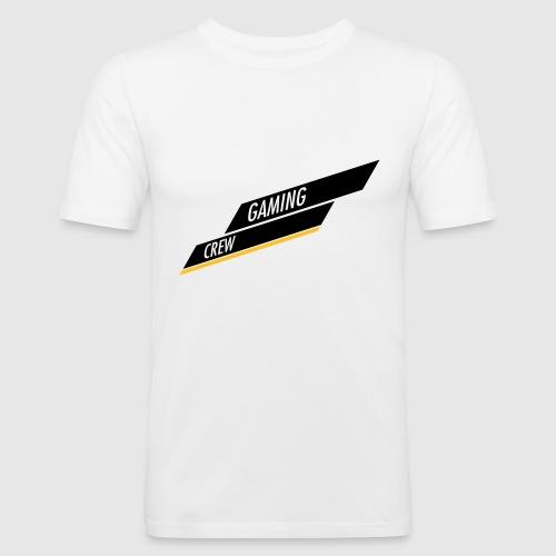 GAMING CREW Schräg Balken - Männer Slim Fit T-Shirt
