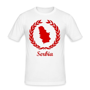 Connect ExYu Serbia Red Editon - Männer Slim Fit T-Shirt