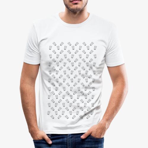 Dubbeglas - Muster - Weinschorle - Wein - Pfalz - Männer Slim Fit T-Shirt
