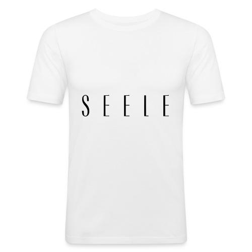 SEELE - Text Cap - Miesten tyköistuva t-paita