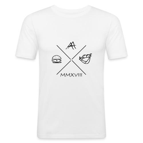fischbroetchen trifft falafel - Männer Slim Fit T-Shirt