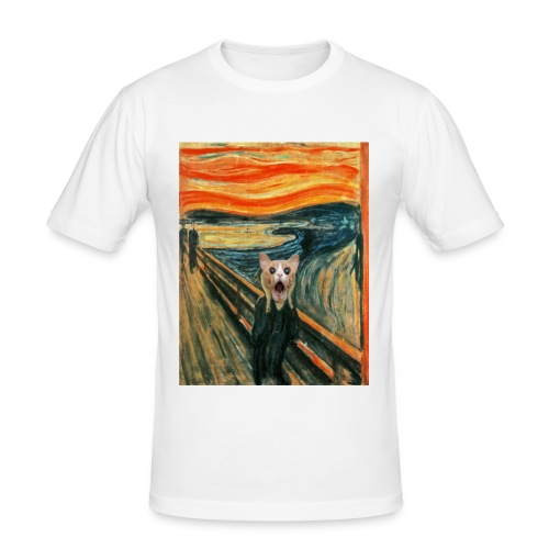 cat scream - T-shirt près du corps Homme