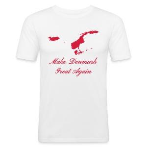Make Denmark Great Again - Herre Slim Fit T-Shirt