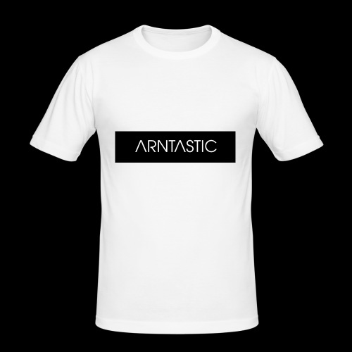 ARNTASTIC balken schwarz - Männer Slim Fit T-Shirt