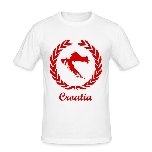 Connect ExYu Croatia Red Edition - Männer Slim Fit T-Shirt