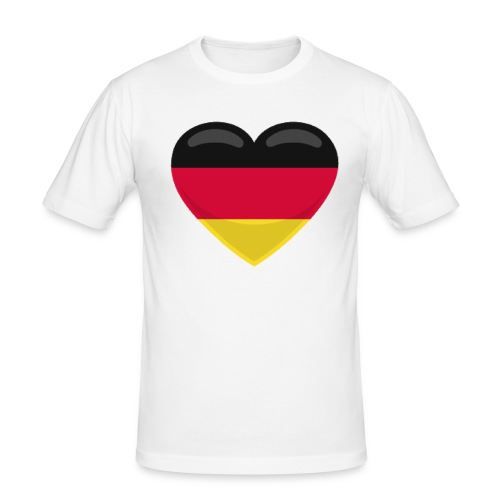 germany heart - Männer Slim Fit T-Shirt