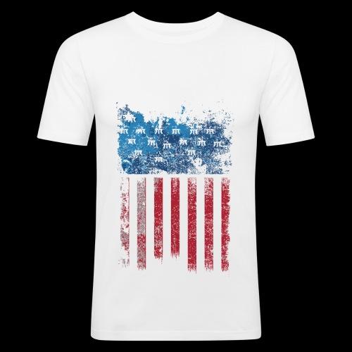 US Flag - T-shirt près du corps Homme