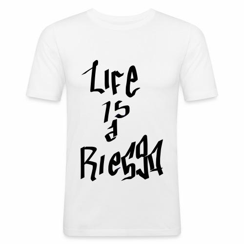 La vida es un riesgo - Camiseta ajustada hombre