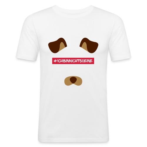 #ICHBINNICHTSOEINE WHITE COLLECTION - Männer Slim Fit T-Shirt