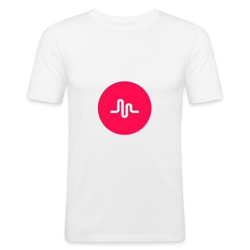 musical.ly - Slim Fit T-skjorte for menn