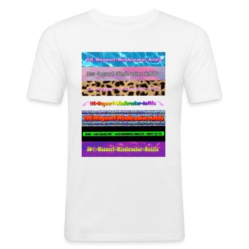 10€-Wegwerf-Windbreaker-Antifa - Männer Slim Fit T-Shirt