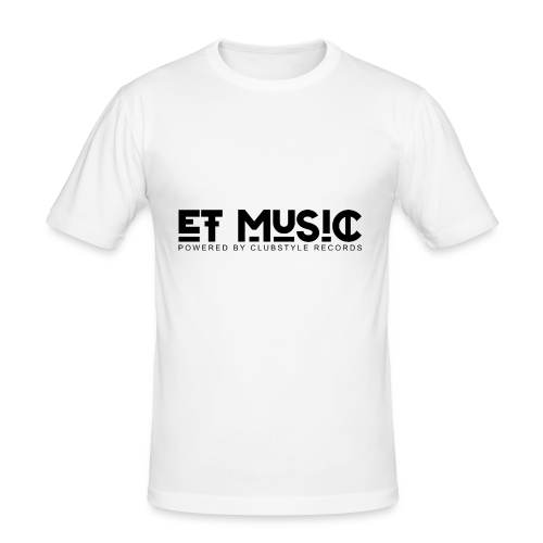 E.T. Music Logo (Powered by ClubStyle Records) - slim fit T-shirt