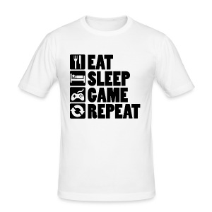 Eat Sleep Game Repeat - Herre Slim Fit T-Shirt