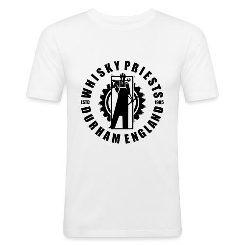 IRON MAN LOGO BLACK TRANS - Men's Slim Fit T-Shirt