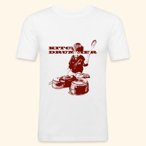 kitchen drummer - Maglietta aderente da uomo