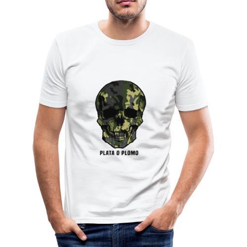 Colombian skull - plata o plomo - Männer Slim Fit T-Shirt