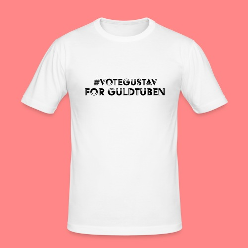 #VoteGustavForGuldtuben - Slim Fit T-shirt herr