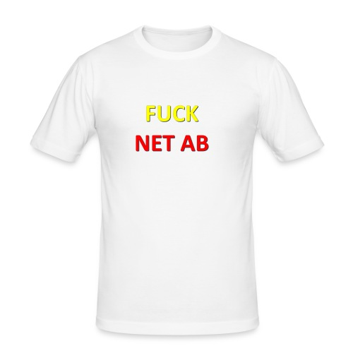 FUCK NET AB - Männer Slim Fit T-Shirt