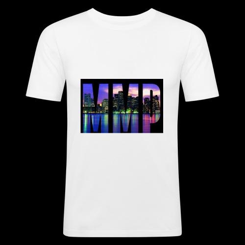 MonkyMusikProduktion Design MMP skyline - Männer Slim Fit T-Shirt
