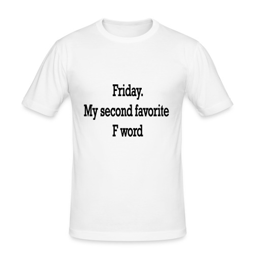 T-Shirt F word - Maglietta aderente da uomo