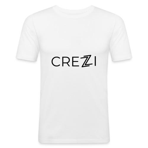 Crezzi Text Logo - Miesten tyköistuva t-paita