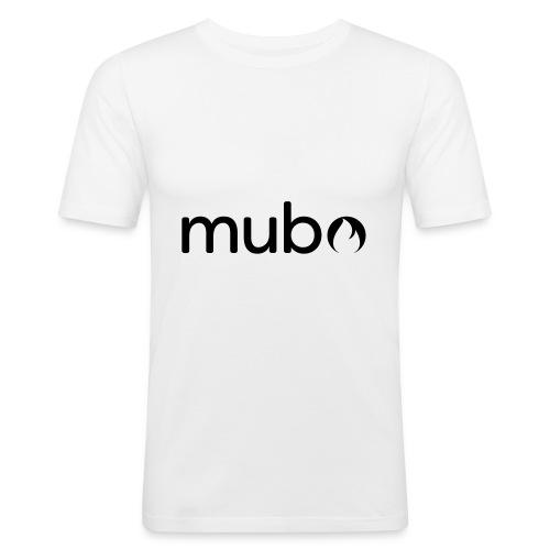 mubo Logo Word Black - Männer Slim Fit T-Shirt