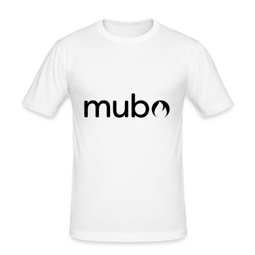 mubo Logo Word Black - Men's Slim Fit T-Shirt