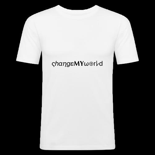 original ςhαηgεMYω⊕rレd - T-shirt près du corps Homme