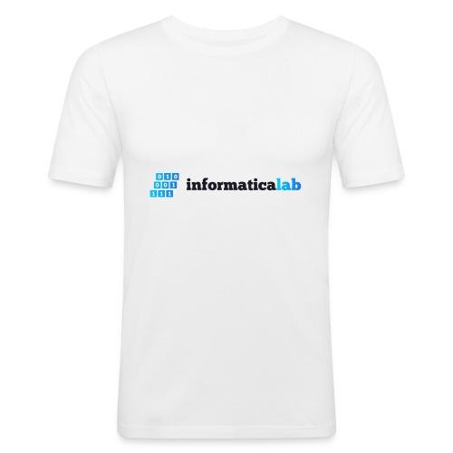 InformaticaLab logo for white background - Maglietta aderente da uomo