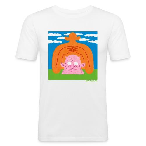 Sun Giant and Demon Head - Männer Slim Fit T-Shirt