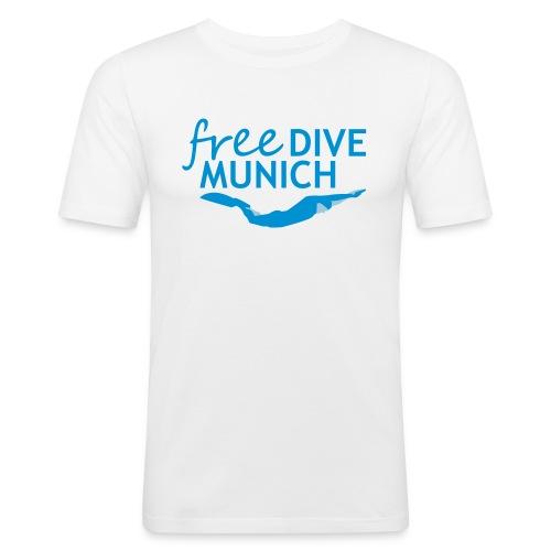 FreeDive Munich Logo zweifarbig - Männer Slim Fit T-Shirt