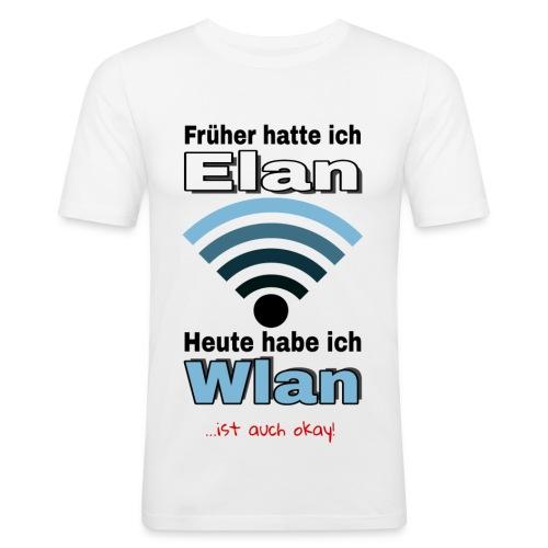 Früher hatte ich Elan... - Männer Slim Fit T-Shirt