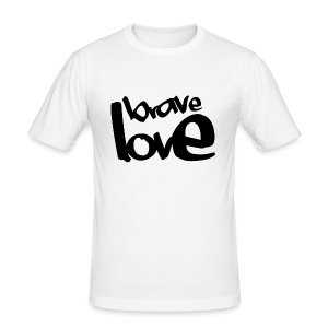BRAVE LOVE // black - Männer Slim Fit T-Shirt
