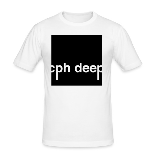 cph deep logo - Herre Slim Fit T-Shirt