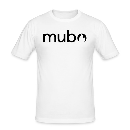 mubo Logo Word Black - Männer Slim Fit T-Shirt