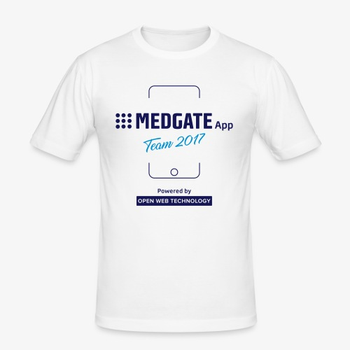 Medgate App Team 2017 White - Männer Slim Fit T-Shirt