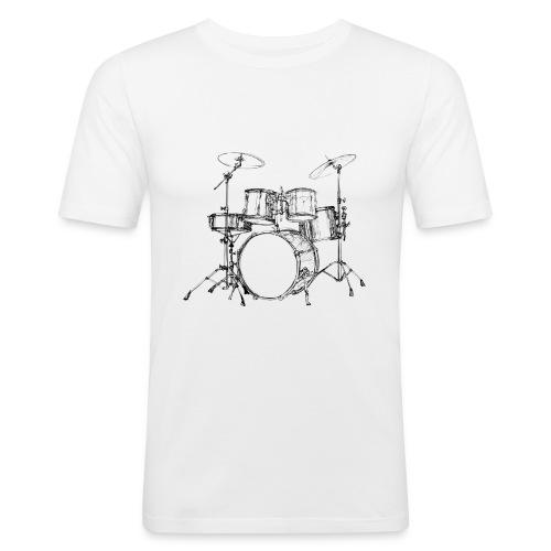 Bateria-png - Camiseta ajustada hombre