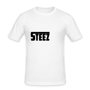 steez Logo white - slim fit T-shirt