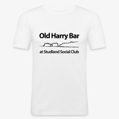 Old Harry Bar logo - black - Men's Slim Fit T-Shirt