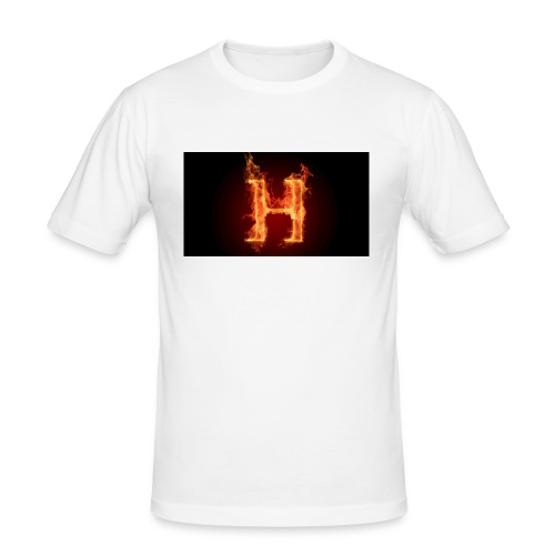 2560x1440-art_flaming_letter_h_digital_letter_fire - Slim Fit T-skjorte for menn