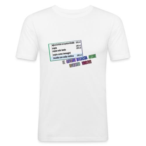 MUCIACCIA - Maglietta aderente da uomo