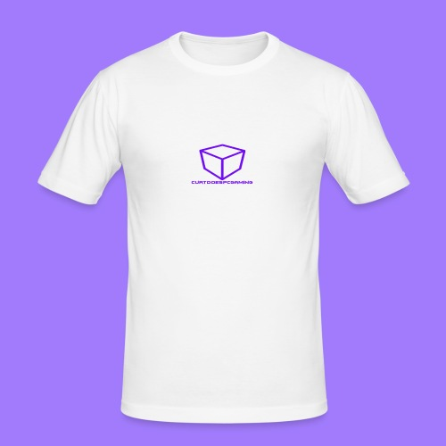 curtdoespcgaming logo #2 - Men's Slim Fit T-Shirt