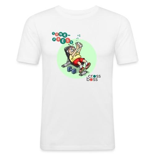 Tänkpress (ljus bakgrund) - Slim Fit T-shirt herr