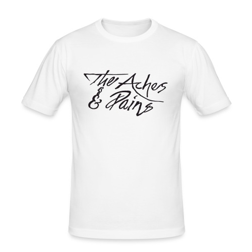 aches pains logo - Herre Slim Fit T-Shirt