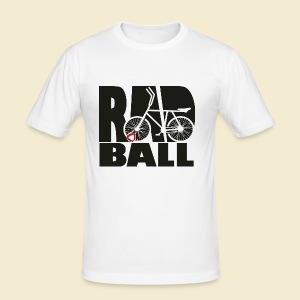 Radball | Typo Black - Männer Slim Fit T-Shirt